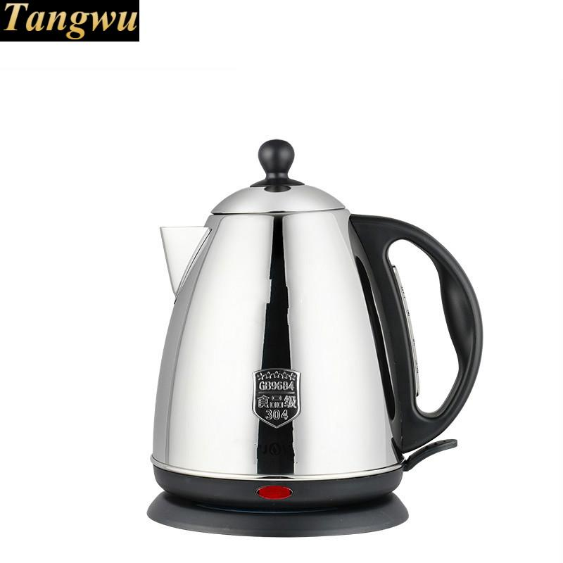 High quality food grade 304 stainless steel electric kettle fired automatically Safety Auto-Off Function good mini stainless steel electric kettle automatically cut safety auto off function