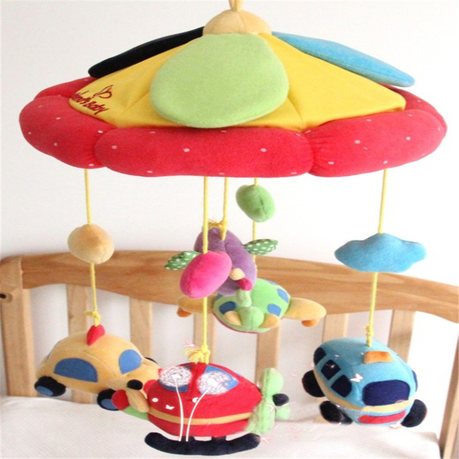 Musical Toy Baby Bed Wind Bell Mobility Months Mobility On The Bed Stuffed Mordedor Toddler Soft 50C0420 baby crib musical mobile bed bell toy holder four animal bracket friend infant brinquedos do bebe toys for baby