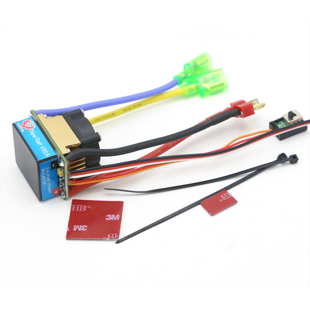 Image 4 - RC ESC 320A 480A Brushed ESC Speed Controller Dual Mode Regulator band brake 5V 3A for 1/10 RC Car Boat-in Parts & Accessories from Toys & Hobbies