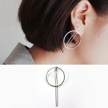 цена на BFQ 2017 S925 sterling silver drop earrings for women found circle chain long earrings office dangle earrings brincos pendientes