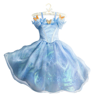 2016 Summer Baby Girl Elsa Anna Cinderella Dress For Party Kids Clothes Princess Dresses Snow Costume
