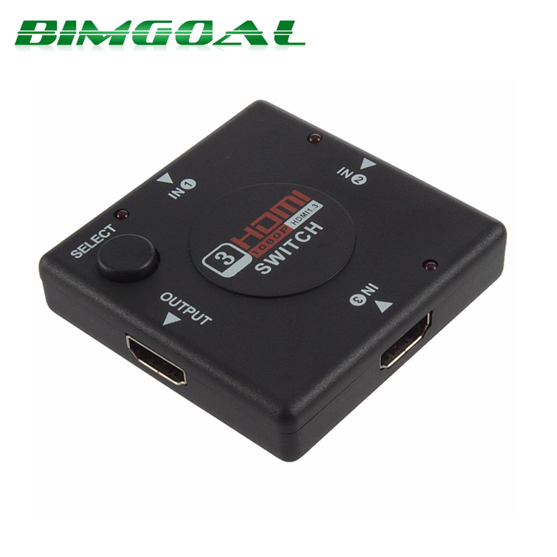 1Pcs Mini 3 Port HDMI Switch Switcher HDMI Splitter HDMI Port for HDTV 1080P Vedio Wholesale