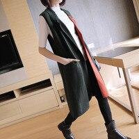 Femelle coton gilet printemps automne longue 2017 nouvelle-Coréen tout-allumette tricoté cardigan manteau gilets