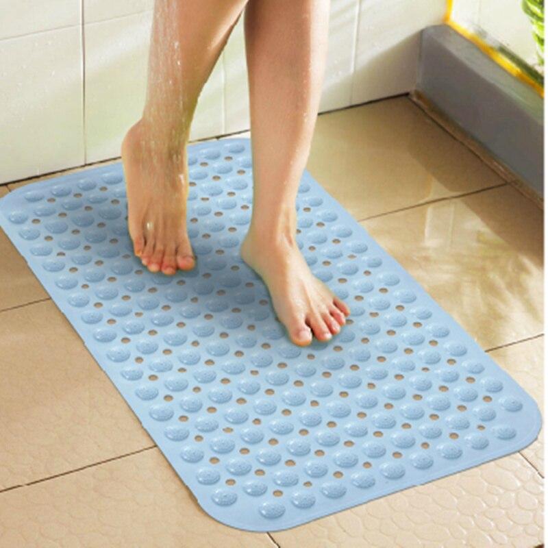 Shower mats non slip bath mat pvc shower with er for for Big w bathroom mats