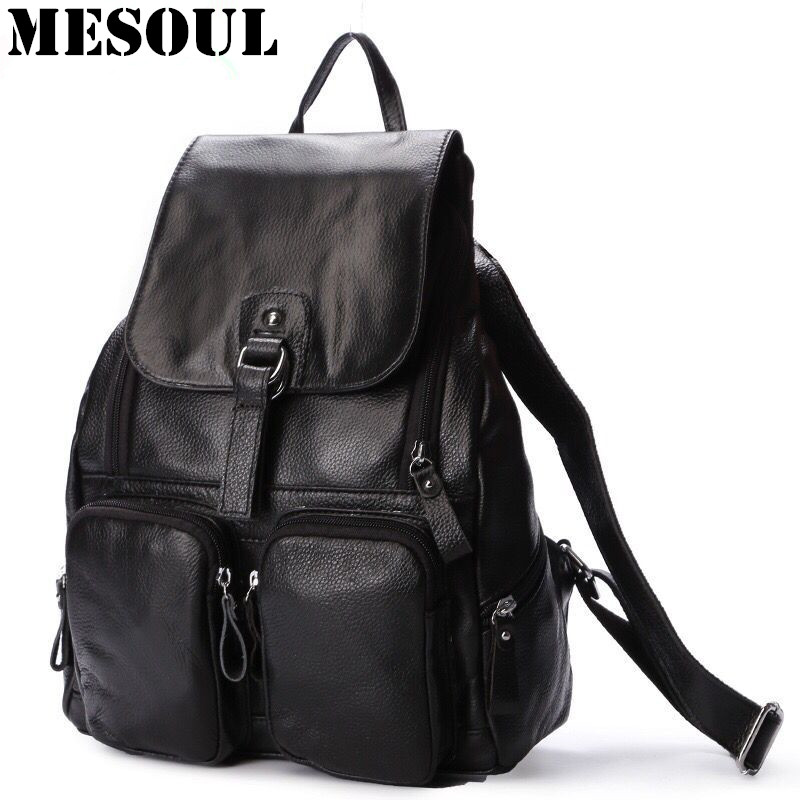 Luxury Brands Rucksack women backpack schoolbag genuine leather fashion backpacks for teenage girls backpack bag Bolsas Mochila 2017 fashion women pu leather backpack preppy style rucksack schoolbag for teenage girls lady shoulder backpack mini machilas