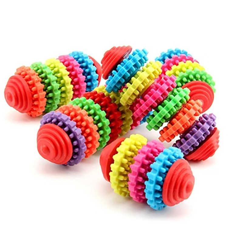 ฟันฟันฟันเหงือกฟันสุขภาพดี Chew เกียร์ของเล่น Chew การฝึกอบรมเครื่องมือที่มีสีสันยางสัตว์เลี้ยงสุนัขสุนัขฟัน Teething ของเล่น 5 ชนิด