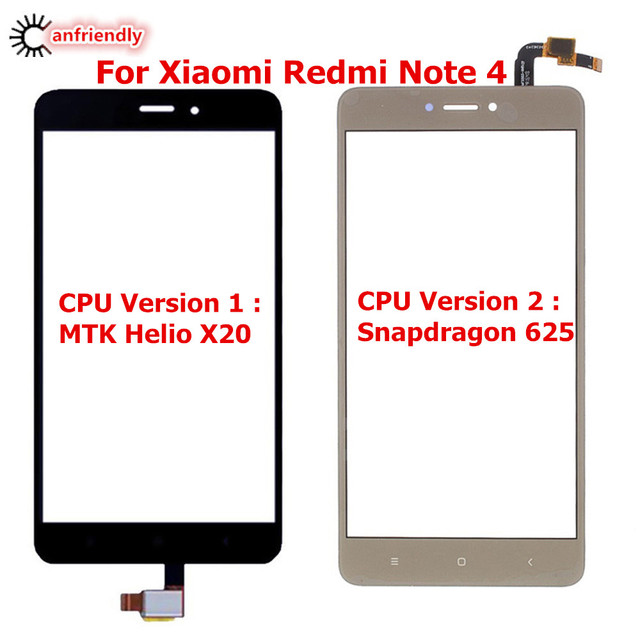 For Xiaomi Redmi Note 4 Touch Screen Panel Replacement Digitizer Sensor Front Glass For Xiaomi Redmi Note4 Phone replace Glass