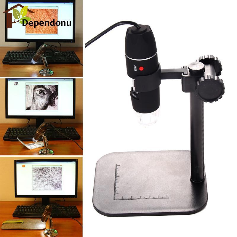 50X - 500X USB Digital Microscope LED Lights With 360 Degrees Adjustable Holder COMS Sensor for Video