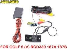 RCD330 PLUS 187A 187B AV REAR VIEW CAMERA For VW Golf 5 MK5 V