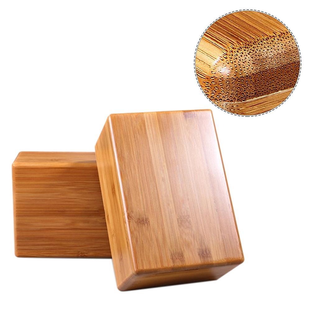 1pc Yoga Tool Natural Bamboo Yoga Block Non Slip Bamboo Handstand Yoga Movement Fitness Workout Gymnastics Training Brick