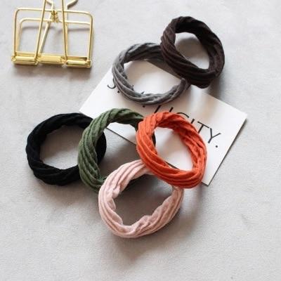1PCS Hot Sale Random Color Girls Colorful Elastic Lovely Kids Children Hair Ropes Ponytail Elastic Hair Bands   Headwear