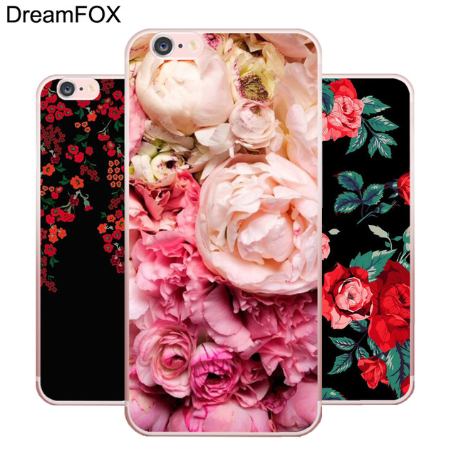 DREAMFOX L222 Peony Sunflowe Flower Soft TPU Silicone  Case Cover For Apple iPhone X XR XS Max 8 7 6 6S Plus 5 5S SE 5C 4 4S
