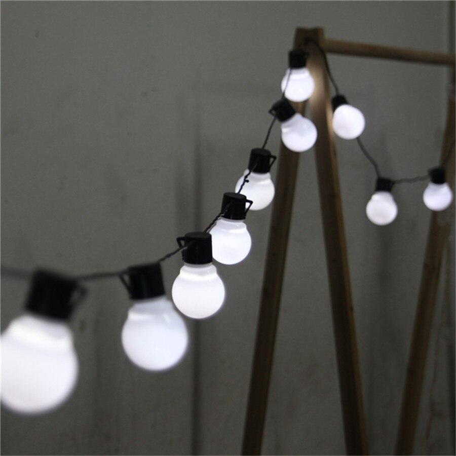 110V 220V 5M 20pcs 5CM Big Ball LED String Black Wire Outdoor Fairy String Garland Light Christmas Wedding Garden Light 20pcs mini pavilion lampshade string light
