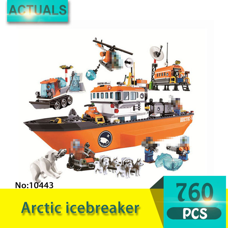 bela 10443 760Pcs City series Arctic icebreaker Model Building Blocks Set  Bricks Toys For Children Gift 60062 bela 10443 city arctic icebreaker building bricks blocks toys for children game team castle compatible with decool lepin 0062