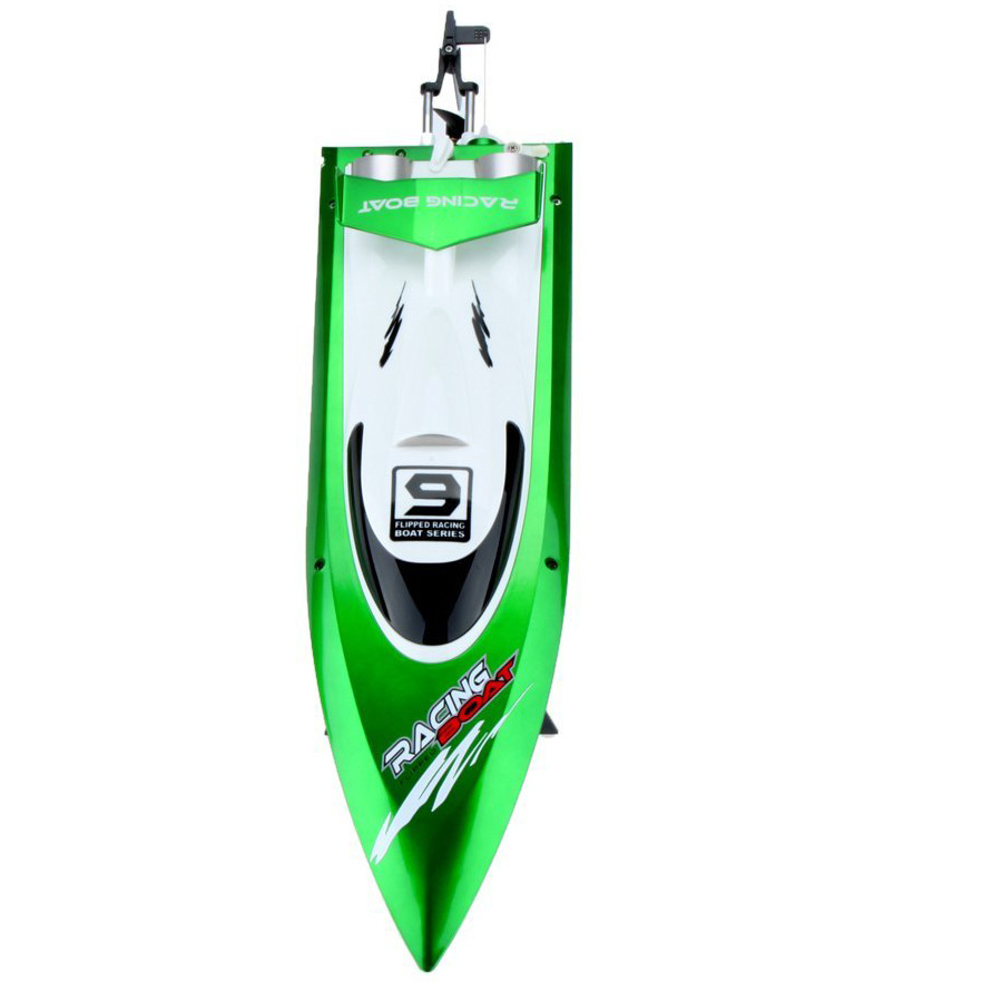 Feilun FT009 2.4G eau de refroidissement 4CH télécommande de RC bateaux de course à grande vitesse en plein air (vert)