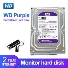 WD фиолетовый 1 ТБ 3,5 «жесткий диск наблюдения для системы безопасности WD10EJRX HDD SATAIII DVR CCTV PC HDD внутренние жесткие диски