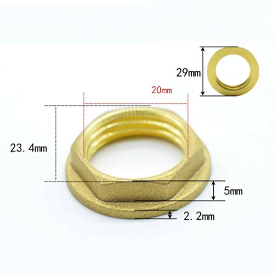 "1/2"" BSP Female Brass Hex Head Nut With Flange Washer Spacer Pipe Fitting"