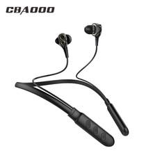CBAOOO Wireless Bluetooth Earphone Headphones Dual Drive Bass headset Blutooth earphone Wireless earpieces with mic for phone