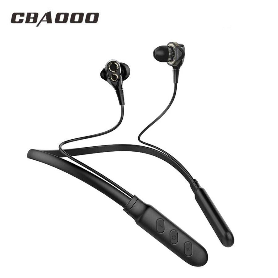 CBAOOO auricular Bluetooth inalámbrico auriculares Dual Bass auriculares Bluetooth auricular inalámbrico de auriculares con micrófono para teléfono