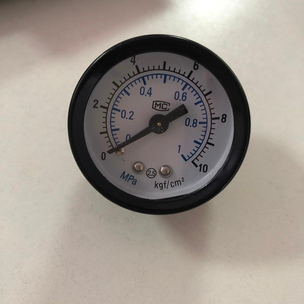 0 1Mpa Arabic Number Round Dial Air Liquid Pressure Gauge 1/8
