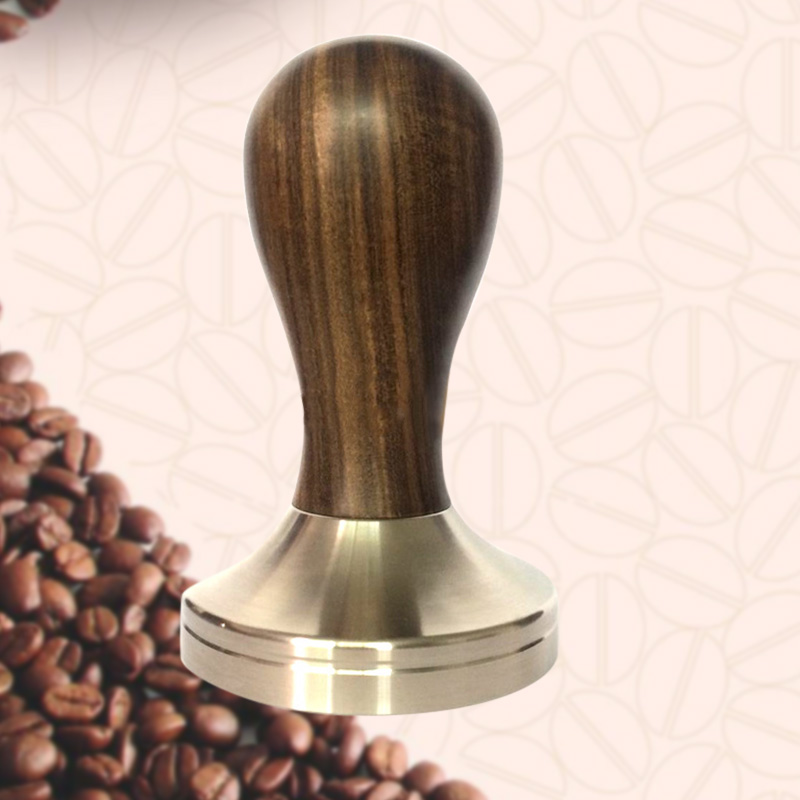 Coffee Tamper Stamping Plate Panar Sandalwood Handle Powder Hammer Coffee Accessories 51mm Dropshipping FAS