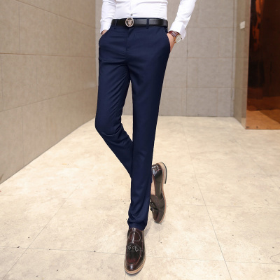 2017 Latest Fashion Trend Mens Autumn Pants Pants Mens Business Slim Young Feet Trousers Casual Small Trousers