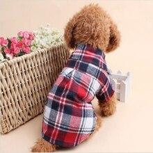 Летний стиль, рубашки для собак, клетчатая Одежда для собак, блузки, топы, рубашки, Осенние для питомцев, щенков, собак, одежда для кошек