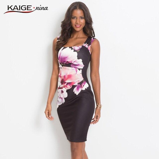 KaigeNina Dress Elegant Women Bodycon Dress Chinese Style Printing Cloth Square Collar Knee-Length knitting Cotton Dress 18076