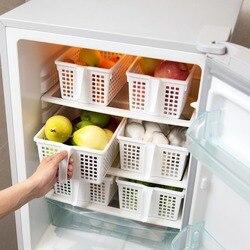OTHERHOUSE lodówka do przechowywania kosz z rączką kuchni pudełko do przechowywania lodówka organizator pulpitu kosze na rozmaitości żywności przekąski w Torby i kosze od Dom i ogród na