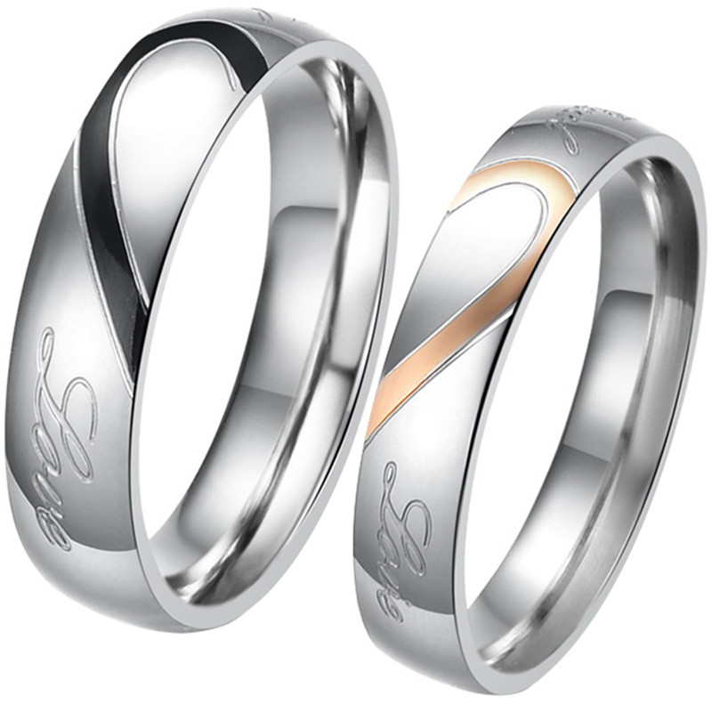 Boniskiss 2020 Rings For Men Women Stainless Steel Wedding Ring Female Italian Jewelry Lovers Heart Joyas En Acero Inoxidable Wedding Rings Ring Forrings For Men Aliexpress