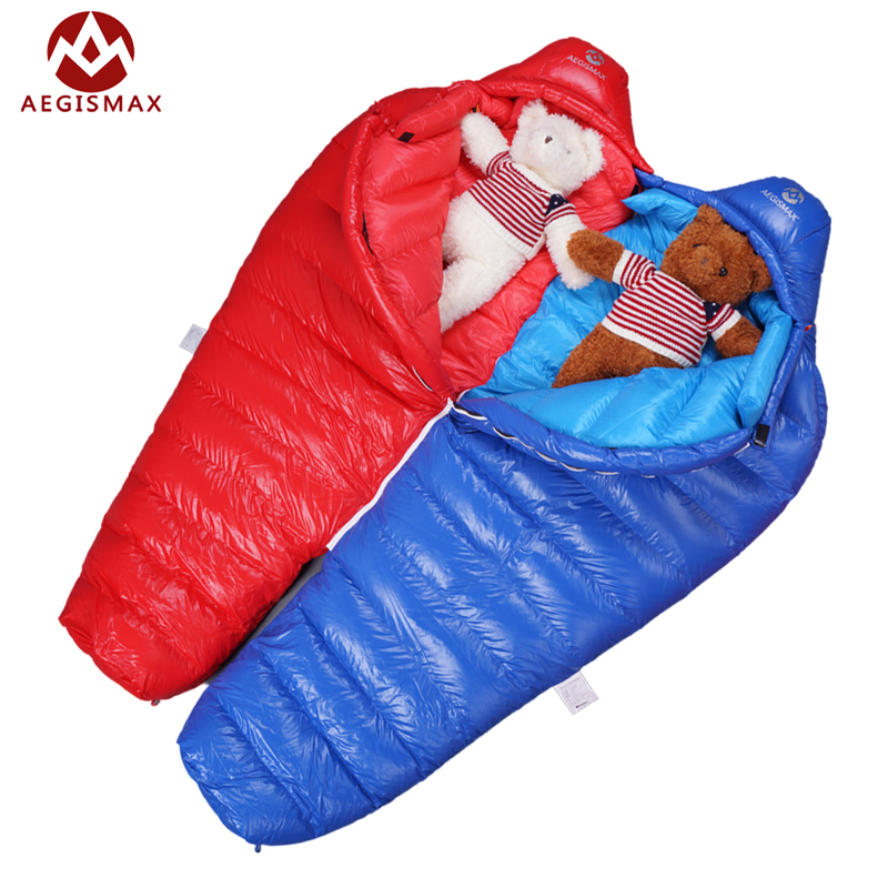 AEGISMAX goose down Mummy Splicing Double sleeping bags ...