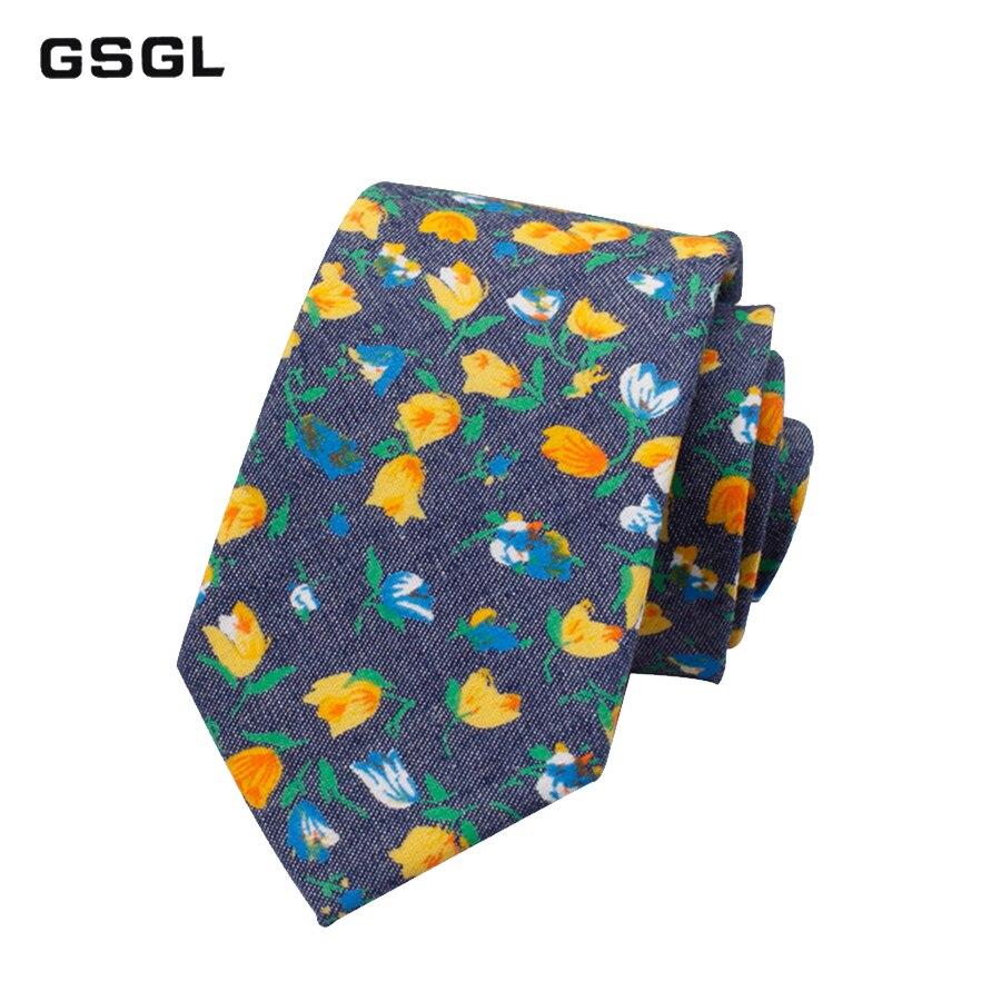 Vintage Floral Cotton Ties For Men Wedding Business Tie Slim Corbatas Fashion Casual Printed Tie Necktie