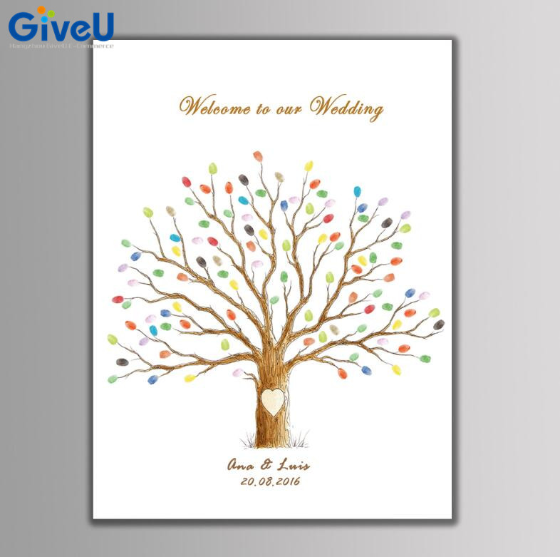 Pictures For Guests Fingerprints And Wishes: GiveU Hot Personalized DIY Welcome To Our Wedding