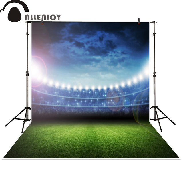 allenjoy photography backdrop football soccer field grass champion