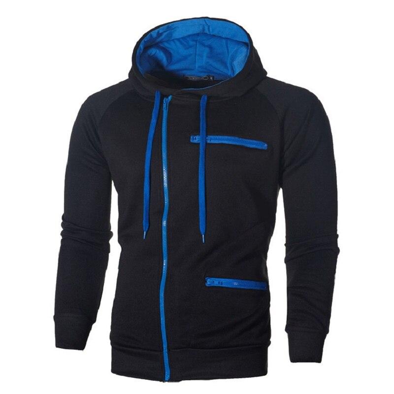 Autumn Winter Coat mens solid color zipper Hoodies sportwear coats jackets fitness Tracksuit fleece Jacket male Hoody Sweatshirt