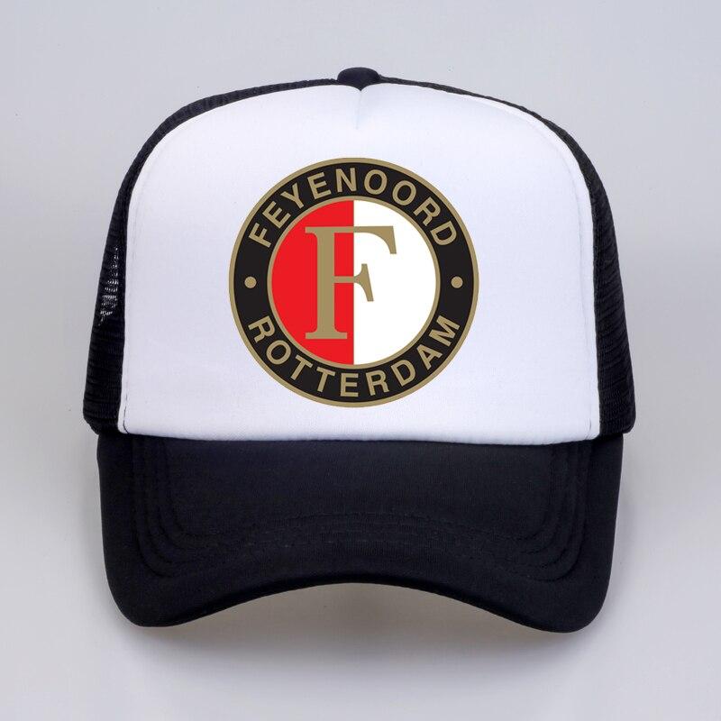 fashion Feyenoord   Baseball     Cap   Summer cool Mesh Trucker   Cap   Women Men print Feyenoord Rotterdam Snapback hat bone gorras