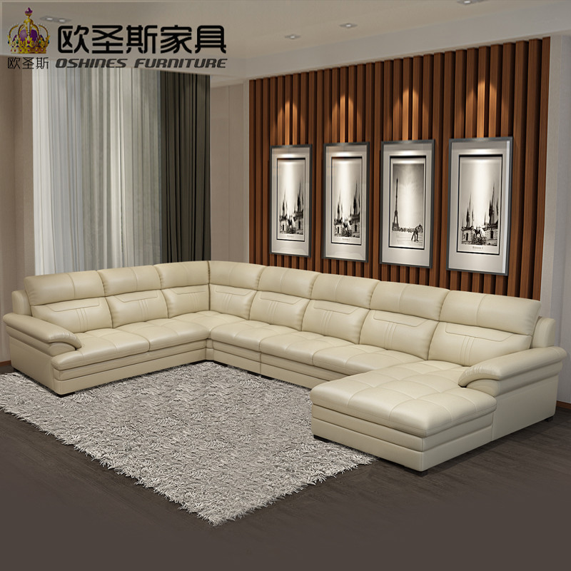 New Model U Shaped Modern Italy Genuine Real Leather Sectional Latest Corner Furniture Living Room Sofa Set Designs Pictures In Sofas From