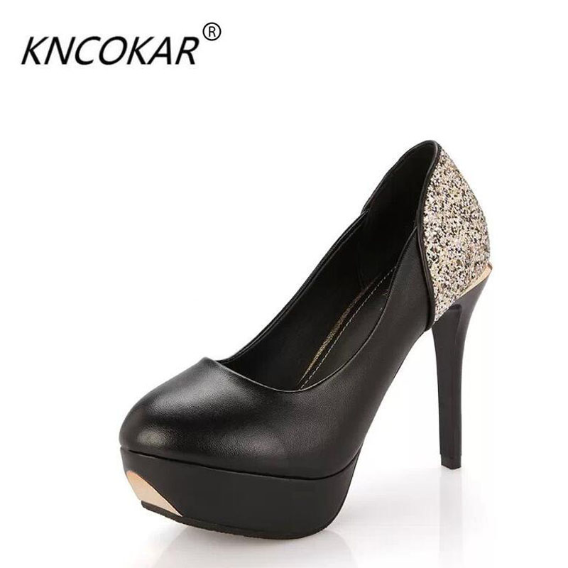 2017 Hot Sale High Quality Fine Pointed High-heeled Shoes Women With Documentary Patent Leather Shoes In The Shallow Mouth 2016 spring new fashion women hot sale nightclub sexy fine with platform high heeled shoes ol shoes baok 8e36