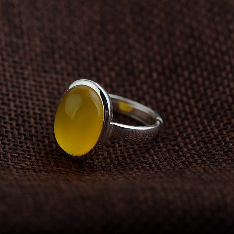 Compare Prices on Chalcedony Silver Ring Online ShoppingBuy Low