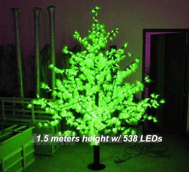 538 leds 5ft led maple tree led christmas holiday tree light waterproof 110220vac red