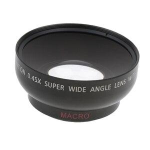 Image 5 - 43mm 0.45x geniş açı Lens makro Canon Nikon Sony Pentax için 52 Mm konu DSLR kamera