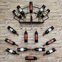Железная настенная полка для винных бутылок держатель, полка дисплея Кухня бар выставочный органайзер для хранения домашний декор