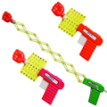 2 unids/lote Nauceas Bromas Divertido elástico telescópica arma de puño juguetes para niños juguete, manual de BRICOLAJE para niños juguetes