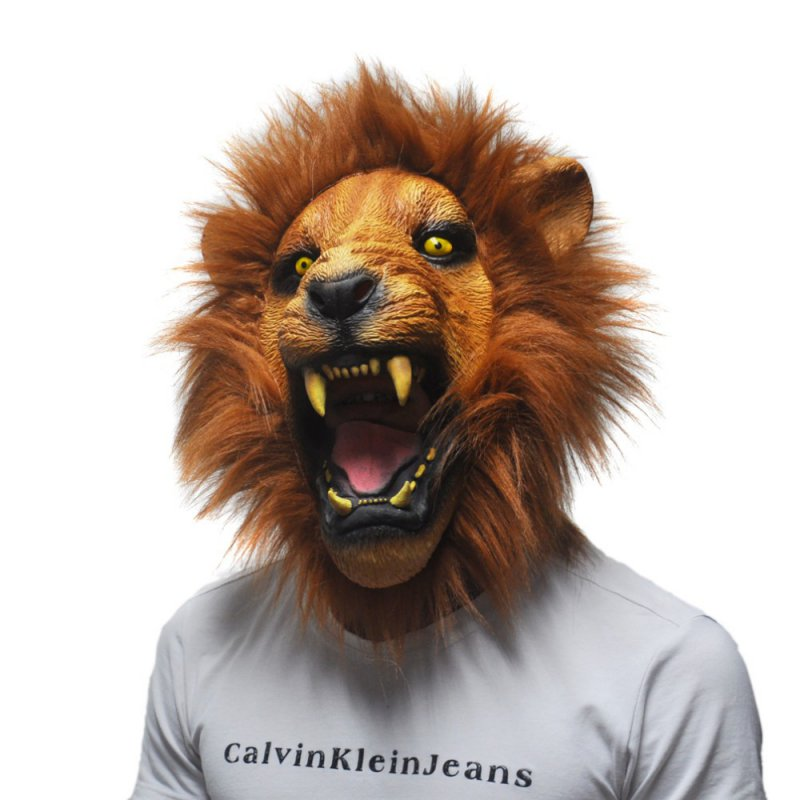 halloween creep party horrible animal mask scary latex lion mask adult prop head in party masks from home garden on aliexpresscom alibaba group - Masque Lion
