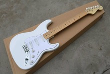 Handmade classical cream white GYST-1001 electric guitar.22 frets with white plate free ship