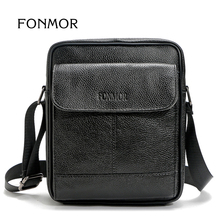 FONMOR Business Männer Echtledertasche Natürliche Rindsleder Messenger Bags für Mann Rindleder umhängetasche Aktentasche