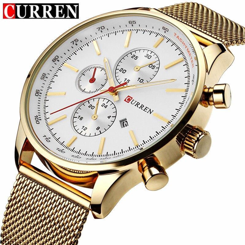 CURREN Men Business relojes Quartz watch Men's Quartz Watches Fashion Casual Full Steel Sports Watches Relogio Masculino 8227W curren watch watches men quartz watch relogio masculino relojes hombre sports analog casual 8091