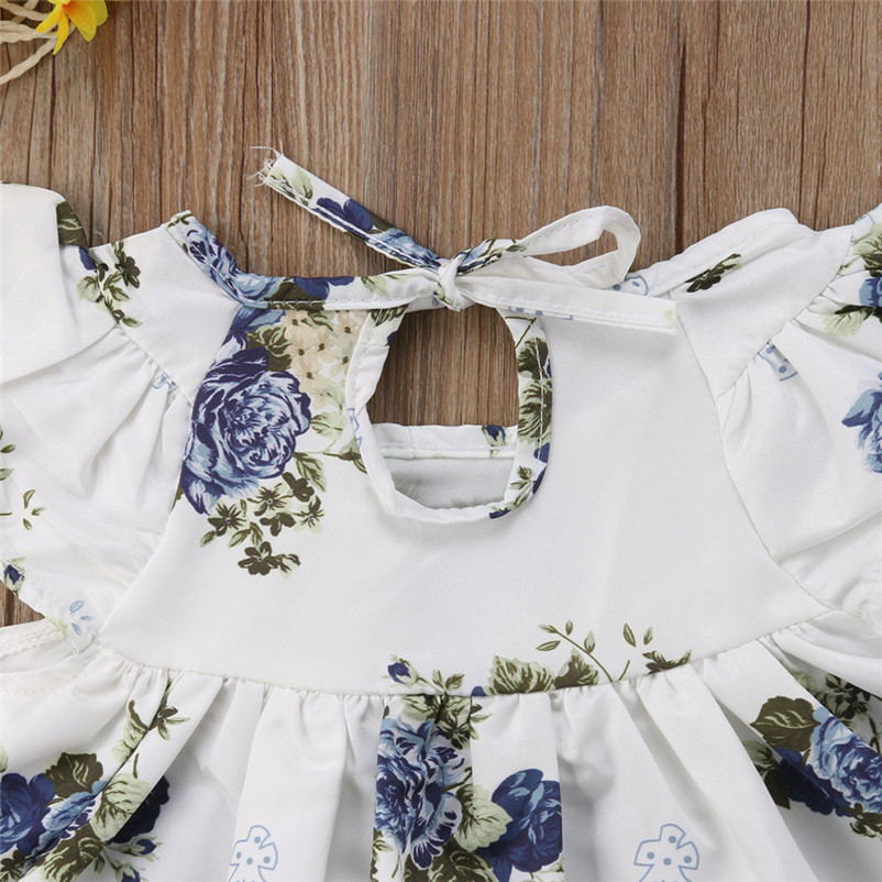 Girls' Baby Clothing Mother & Kids Newborn Baby Girl Clothing 2018 Floral T-shirt Dress Tops Long Pants Clothes Outfit 2pcs Set