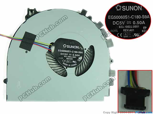 Free Shipping For SUNON EG50060S1-C180-S9A, 023.1002J.0001 DC 5V 4-wire 4-pin Server Laptop Fan free shipping for sunon eg50040v1 c06c s9a dc 5v 2 00w 8 wire 8 pin server laptop fan