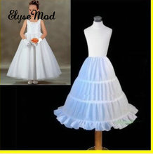 On Sale A-Line Sottogonne Slip Ball Gowns Crinoline Per Flower Girls Abiti in magazzino Cheap Three Hoops Underskirt Little Girls